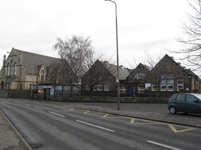 Newcraighall Primary School and old church