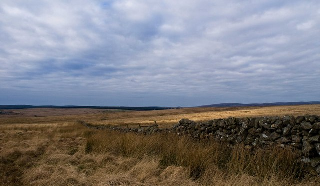 Open moorland east of the Main Water of Luce