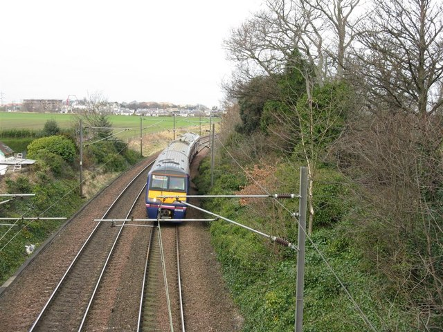 East Coast Mainline at Newhailes