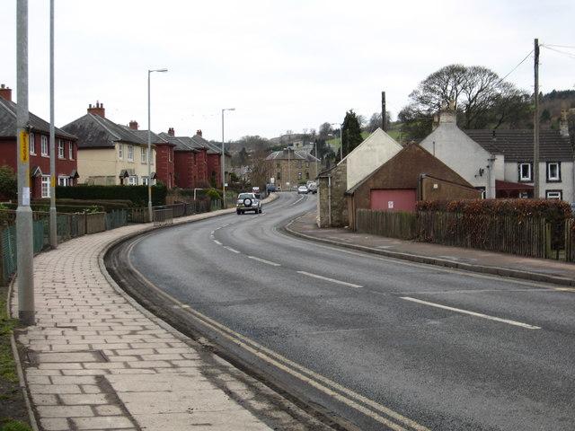 The Edinburgh road entering Jedburgh