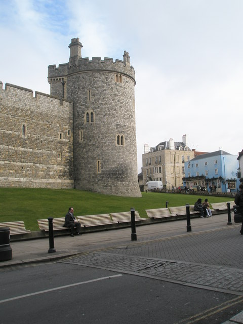 Some empty seats outside Windsor Castle