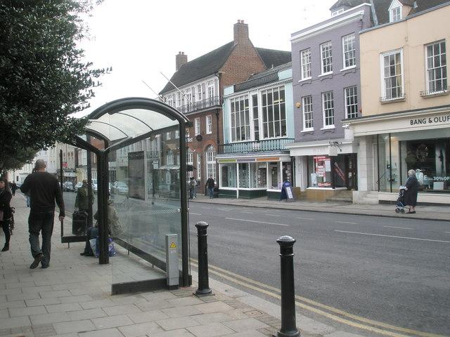Bus shelter in Windsor High Street