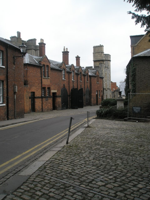 The Royal Mews at the bottom of St Alban's Street