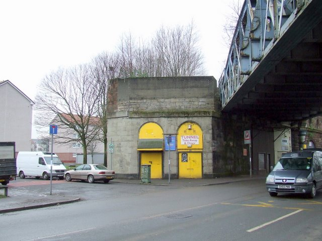 Railway bridge in The Gorbals
