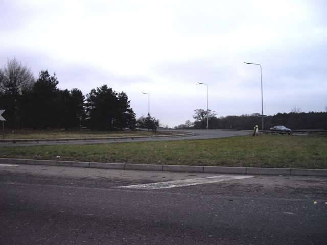 Junction of A414 and M11 at Harlow