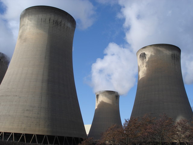 Drax Power Station - cooling towers