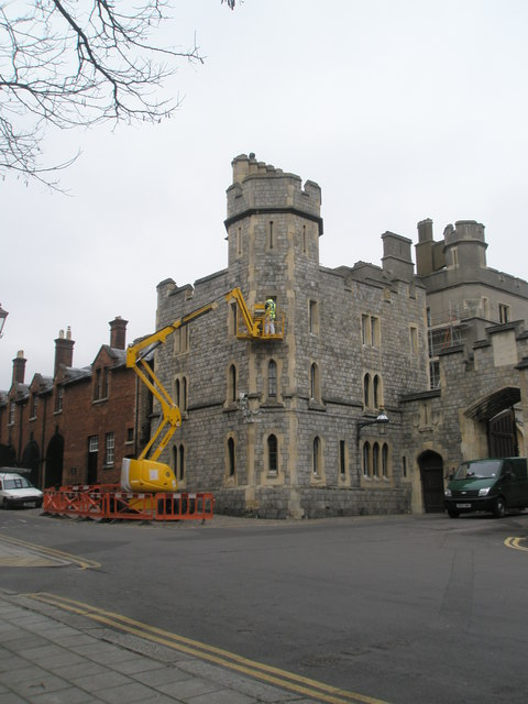 Cherrypicker at work at Windsor Castle