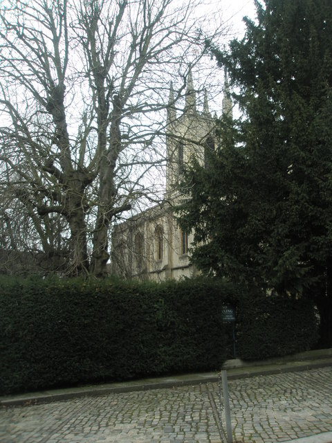 Windsor Parish Church as seen from St Alban's Street
