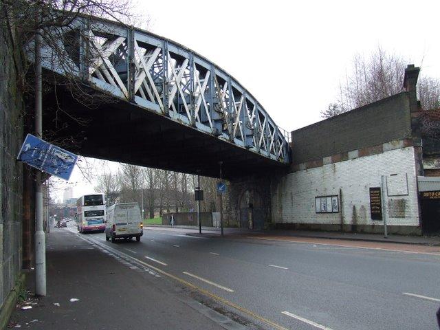 Railway bridge in The Gorbals