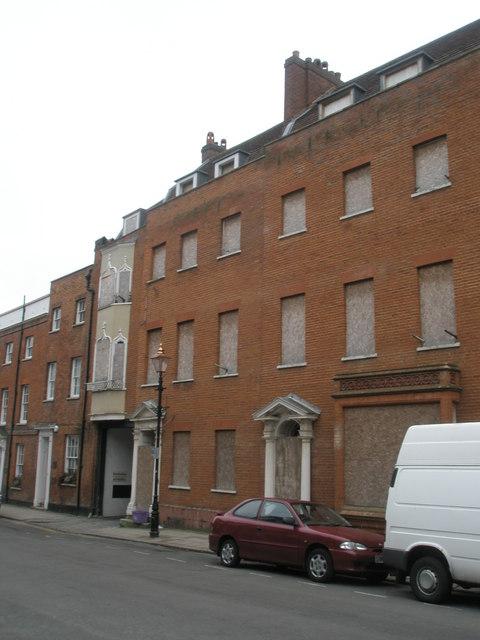 Boarded up windows in Park Street