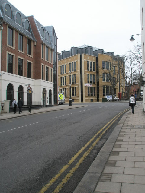 Looking northwards up Sheet Street