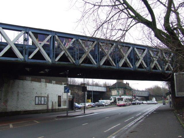 Railway bridges in The Gorbals