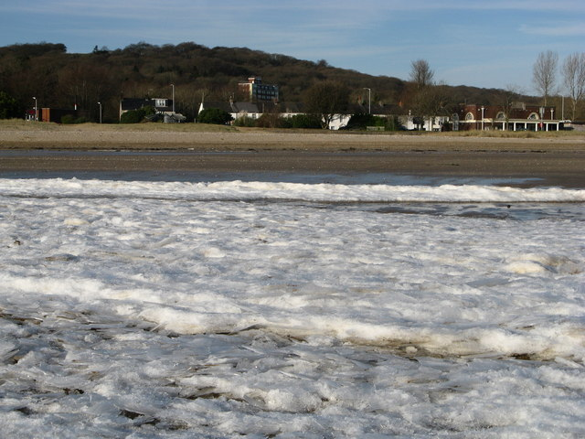 Frozen Surf on Blackpill Foreshore