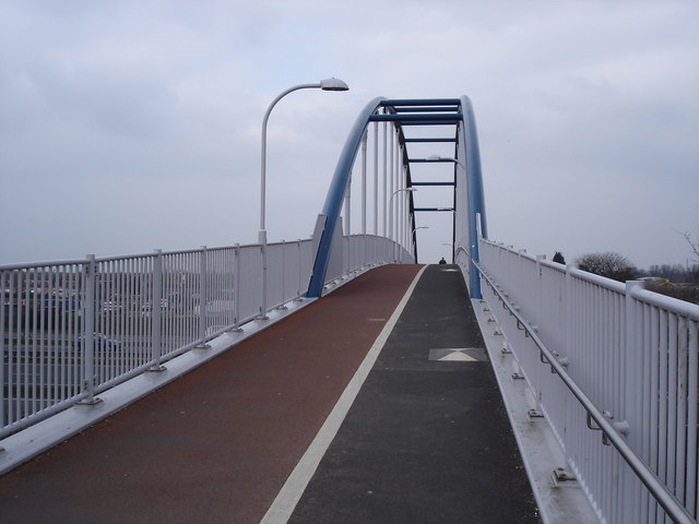 Bridge over the A14 at the end of Cowley Road