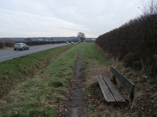 Footpath along the A60 to Cuckney