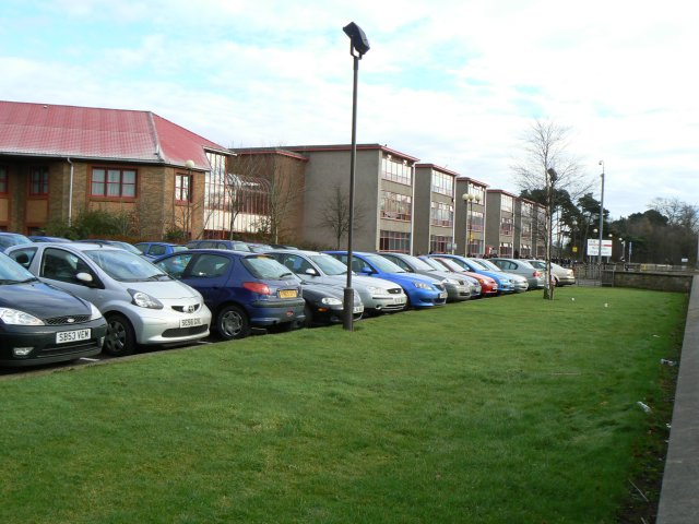 Teachers' car park