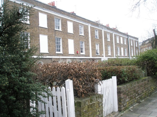 Georgian houses in Sheet Street