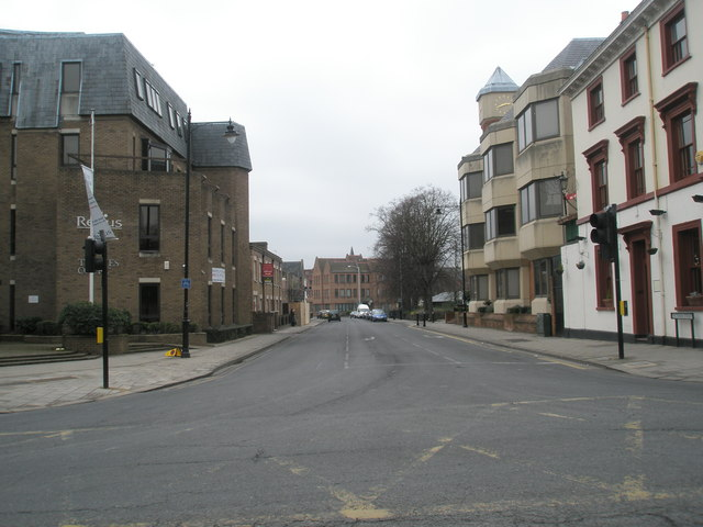 Looking westwards along Victoria Road