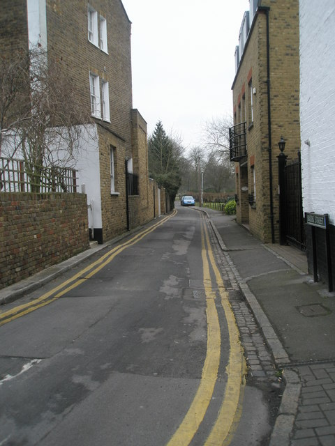 Looking eastwards along Brook Street
