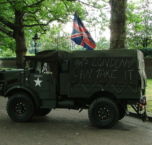 Armoured Vehicle with Graffiti