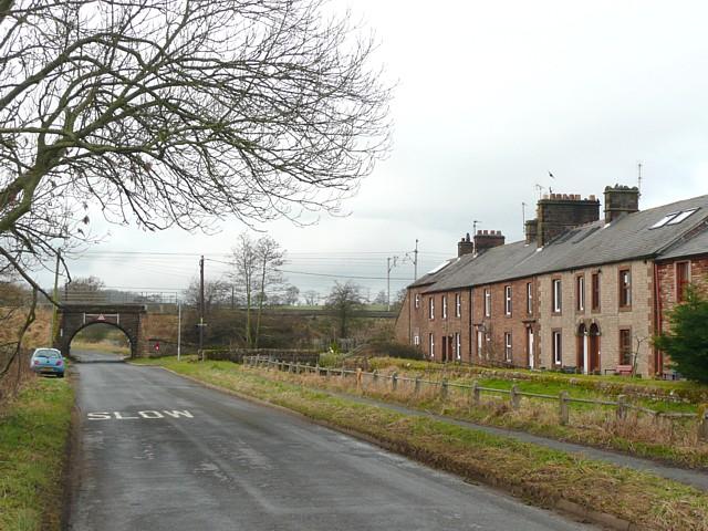 The road to the former Plumpton Station, Hesket Civil Parish