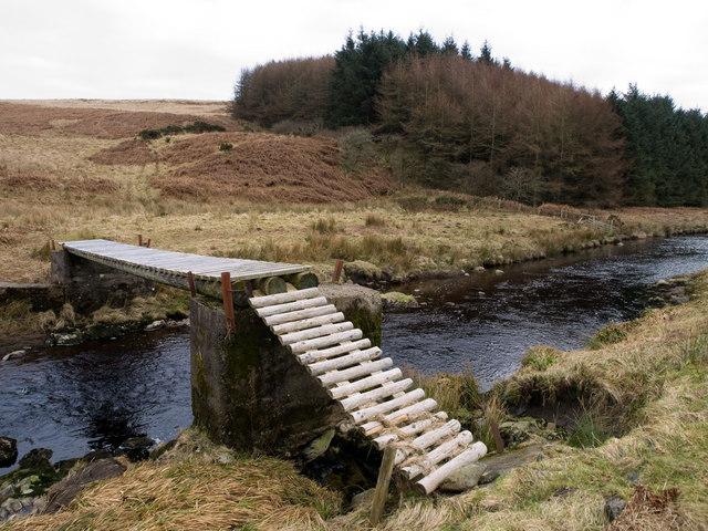 Footbridge over the Luce
