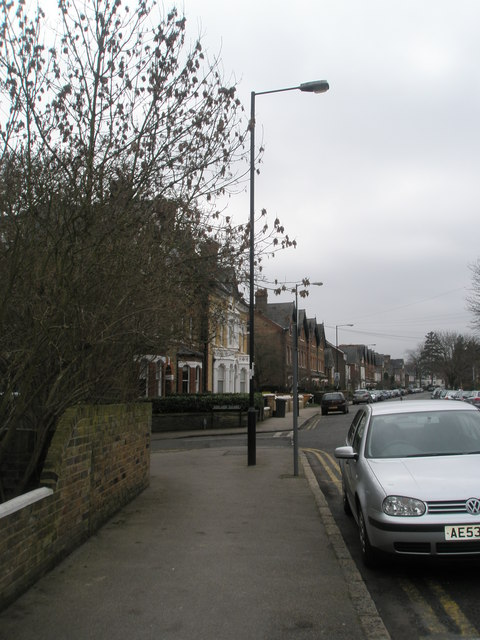 Approaching the junction of Frances Road and Adelaide Square