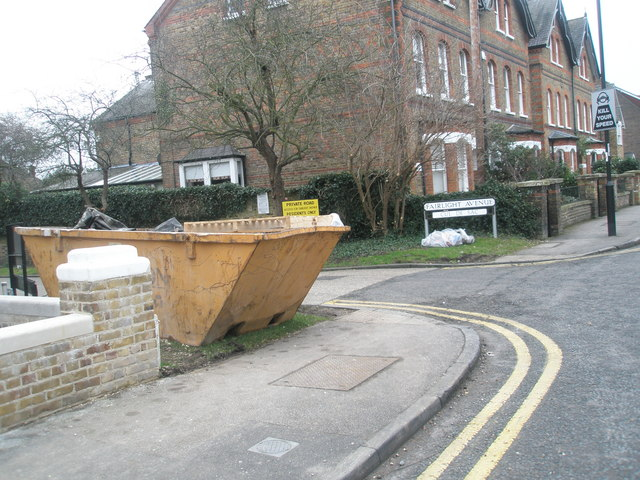 Skip by the junction of Fairlight Avenue and Frances Avenue