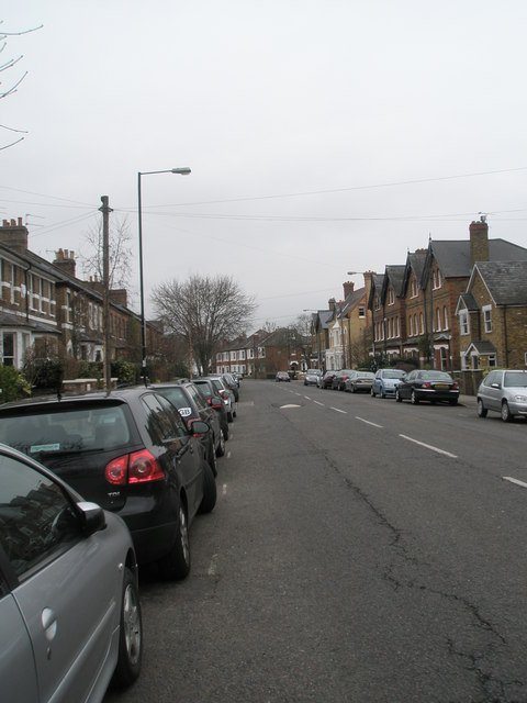 Looking north-east up  Frances Road