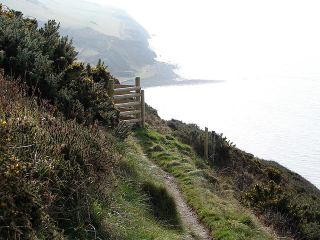 A gate on the Ceredigion Coastal Path
