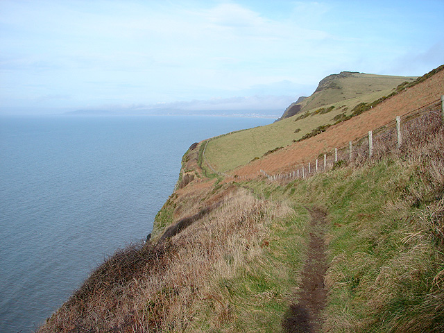 The Ceredigion Coastal Path beside Moelcerni