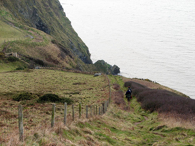 Walkers on the Ceredigion Coastal Path
