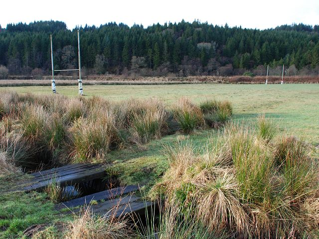 Rugby field by Crinan Canal