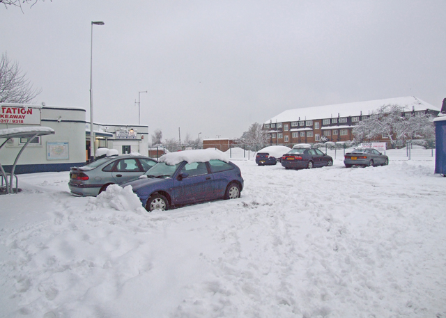 Snow bound car park