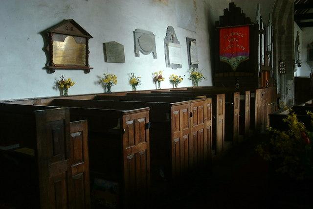 Clodock Church boxed pews