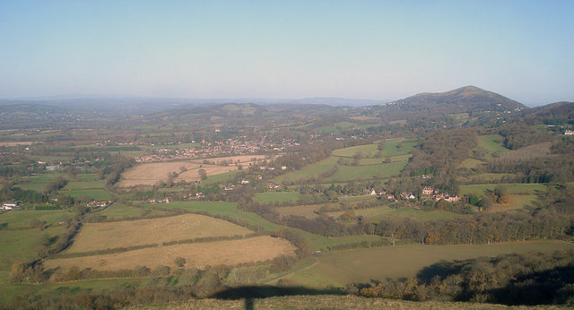Farmland north of the Herefordshire Beacon