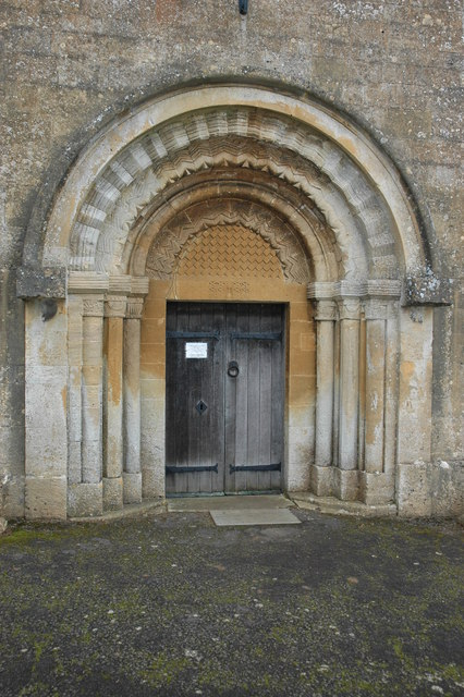 South door, Guiting Power church