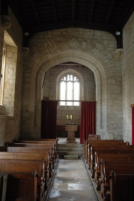 Interior of Guiting Power church