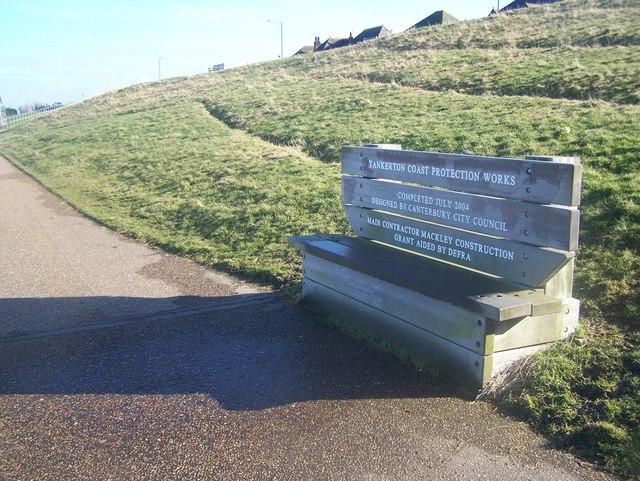 Commemorative Bench on Tankerton Esplanade