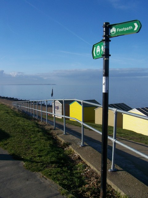 Saxon Shore Way leads to Tankerton Slope esplanade