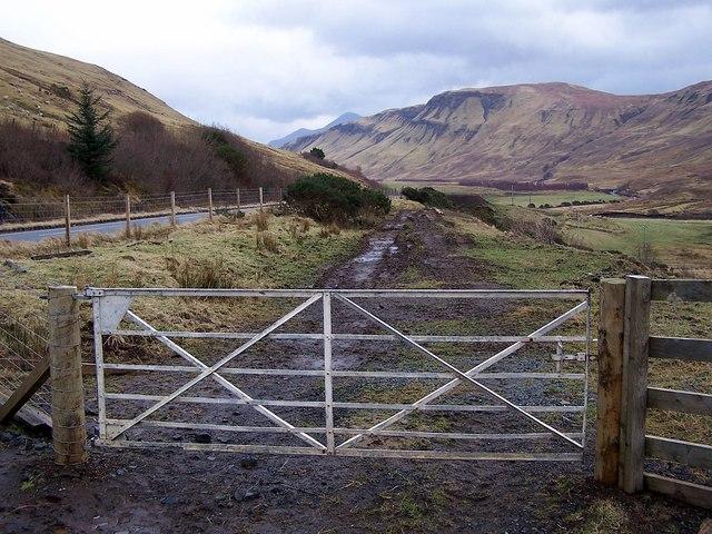 Muddy entrance