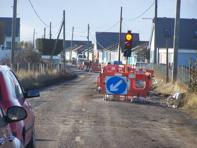 Roadworks on Faversham Road