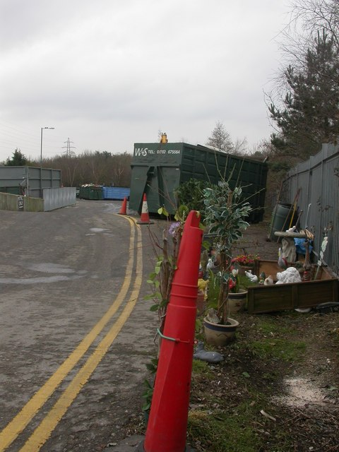 Millhams Recycling Centre, garden
