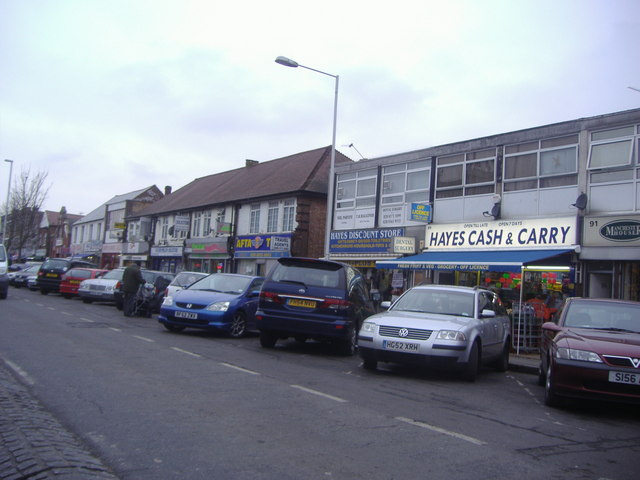 Shops on Coldharbour Lane, Hayes