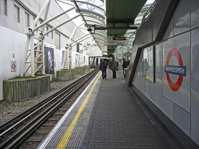 District Line Platform, Hammersmith Underground Station, London