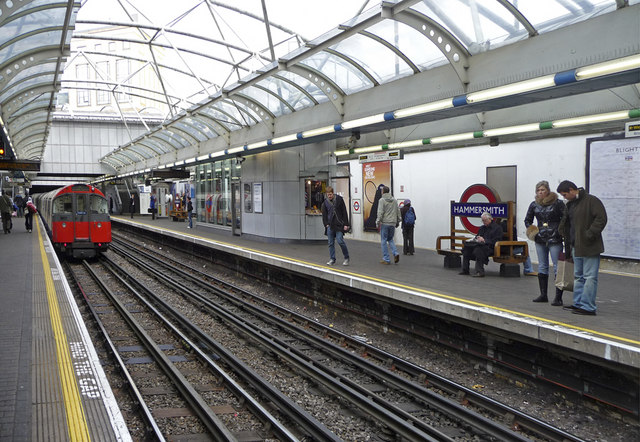 Piccadilly Line platform, Hammersmith, London