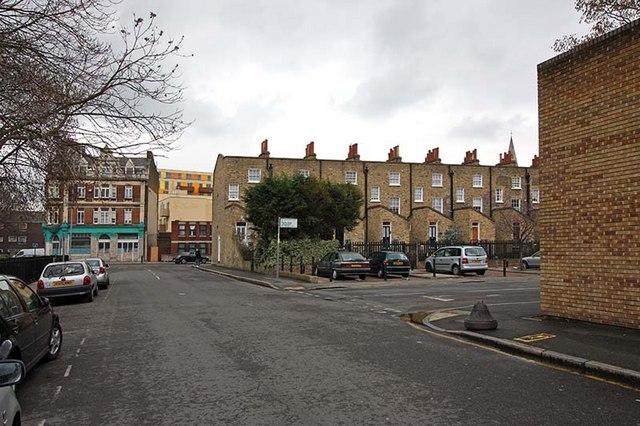 Sturt Street looking towards Taplow Street, London N1