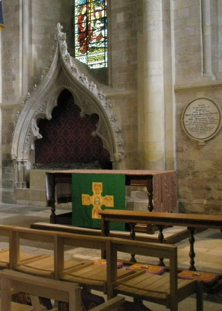 Devotional area within Romsey Abbey