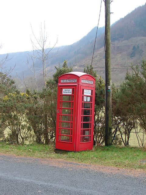 Cwm Rheidol Telephone Kiosk - Still Extant