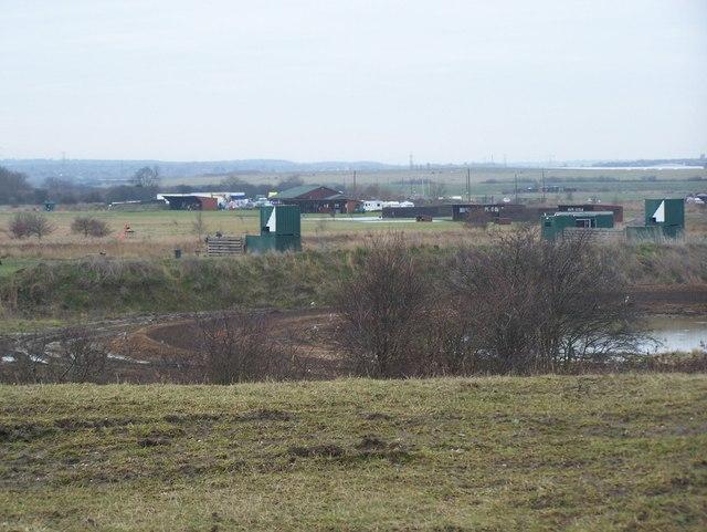 Shooting club in Dartford Marshes